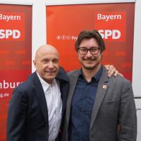 Der bisherige Vorsitzende Erich Henke und sein Nachfolger Manuel Michniok freuten sich über den erfolgreichen Wechsel an der Spitze