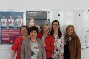 Die Frauen im neuen Vorstand (v.l.n.r.): Esther Pranghofer-Weide, Brigitta Rothmann, Martina Fehlner, Sophie Peter, Claudia Blattner (nicht auf dem Bild: Petra Freudenberger)