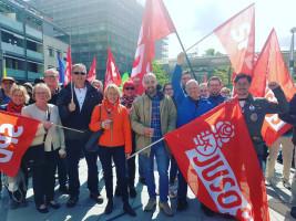 SPD Aschaffenburg bei der DGB Kundgebung