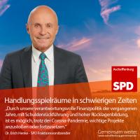 Erich Henke, SPD Fraktionsvorsitzender im Stadtrat