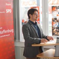 Manuel Michniok stellte sich und sein Programm mit einer leidenschaftlichen Rede den Delegierten vor. Das Ergebnis: 100 Prozent Zustimmung bei seiner Wahl zum neunen Stadtverbandsvorsitzenden!