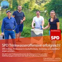 SPD Aktive am Trinkwasserbrunnen