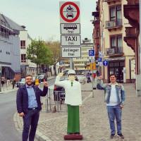 Tobias Wüst und Manuel Michniok in der Luitpoldstraße