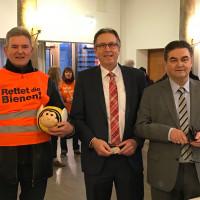 SPD-Erstunterzeichner des Volksbegehrens in Aschaffenburg (v.r. OB Klaus Herzog, Bürgermeister Jürgen Herzing)