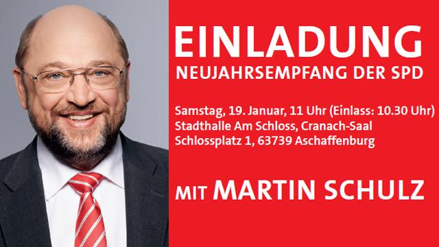 Martin Schulz kommt zum Neujahrsempfang der SPD Aschaffenburg